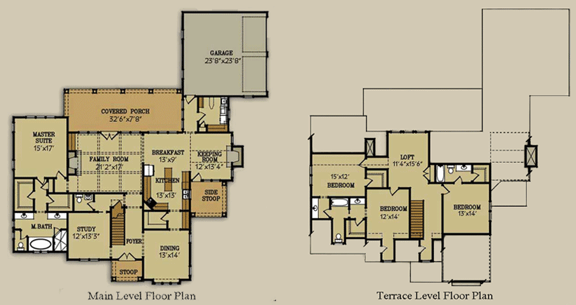 Habersham cottage floor plan for Habersham house plans